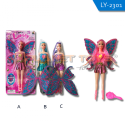 B/O Barbie Lovely w/ Lampu Suara Set